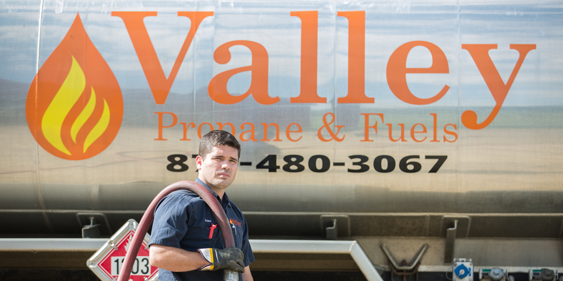 Valley Propane Technician Delivering Fuel to NY Customers