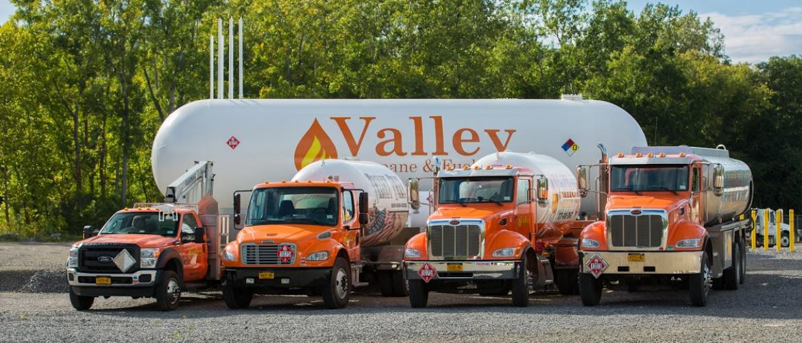 Valley Propane & Fuels Fleet of Delivery Trucks